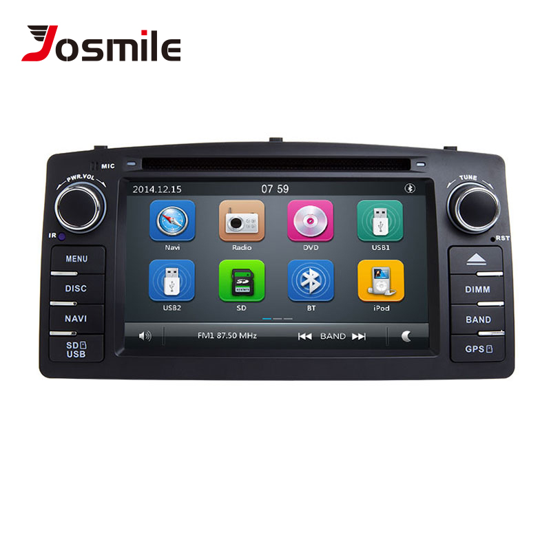 Josmile 2 Din Car DVD Player For Toyota Corolla E120 BYD F3 2000 2005 2006 Radio