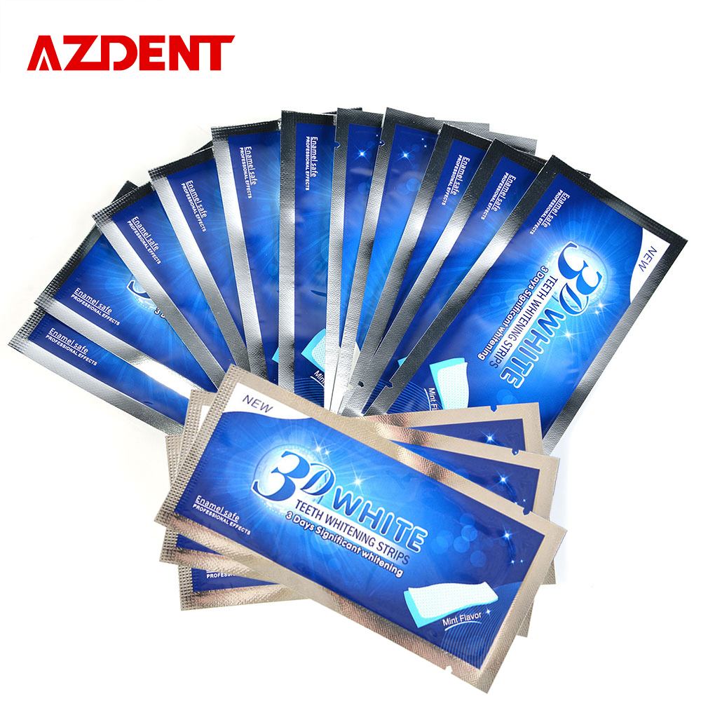 Azdent 14 pouches 28 strips 3d teeth whitening strips whitestrips tooth whitener profession whitening bleaching advanced