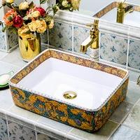 Modern style porcelain wash basin colorful ceramic sink for bathroom