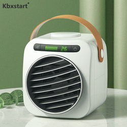 Kbxstart Mini Personal Portable USB Air Conditioner Evaporative Air Cooler Air Purifier For Room Table Water Cooling Fan 350ML