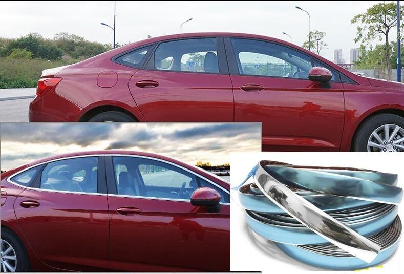 Image 5 - Width 15 MM Car Chrome Decor Strip Sticker Silver Auto Styling Trim Strip Interior Exterior Decoration 1m/2m/3m/5m/10m/15m-in Car Stickers from Automobiles & Motorcycles
