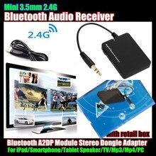 цена на 10p! Mini 3.5mm Wireless Bluetooth V2.1 Audio Music Receiver For iPad/Smartphone/Speaker/TV/Mp3/Mp4/PC,A2DP Module Stereo Dongle
