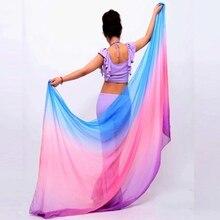 Сцена belly покрывалами пряжи dance реквизит живота шифон шарф танец твердые