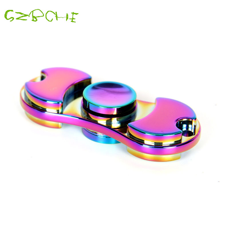 2017 New design fidget spinner metal Two-Spinner Fidget long rotation time Colorful EDC toy for Autism and ADHD hand spinner