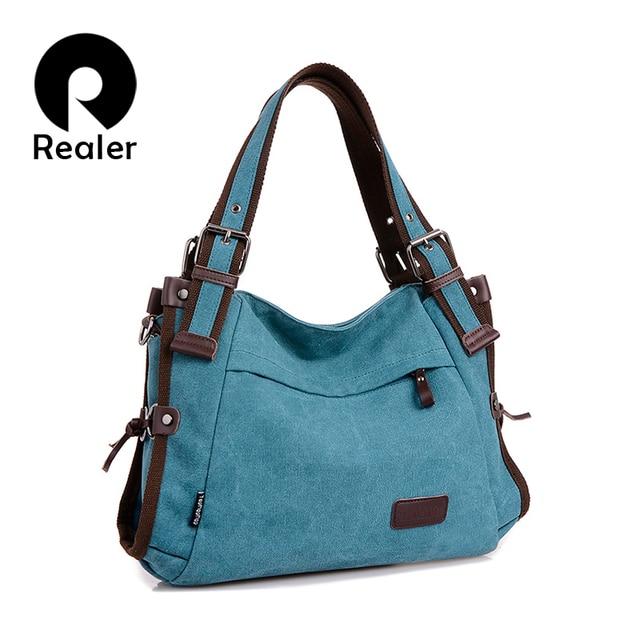 Women Canvas Shoulder Bags Handbags Messenger Top-Handle Bags Tote Female Girls shopping/travel Crossbody Bag Large 5