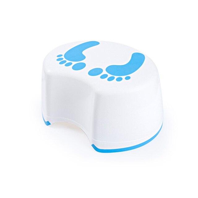 Cute Footprint Plastic Children S Stool Baby Step Non Slip Kids For Kitchen Bathroom