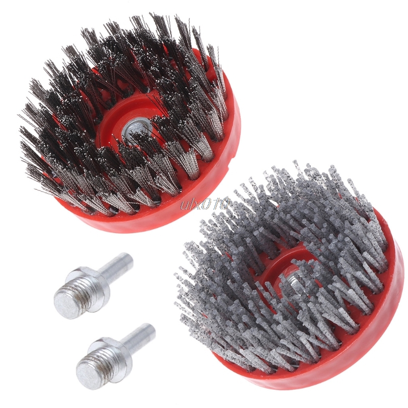 M14 Electric Drill Nylon Wire Brush Cleaning Stone Granite Cement Removing Rust G18 Drop ship
