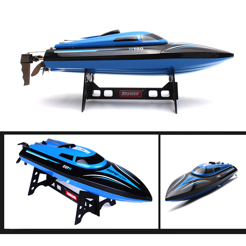 High Speed Skytech H100 2.4GHz 4CH Automatic Racing Boat Waterproof RC Boat 180 Degree Flip Boats RC Toys