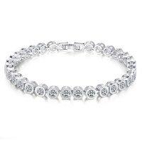 Women Wonderful Swarovski Element Round Cut Cubic Zirconia Tennis Bracelet 7 48