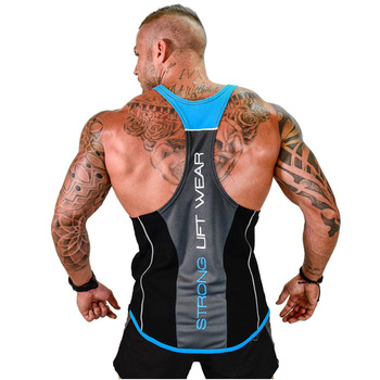 2018 New Men Tank top Gyms Workout Fitness Bodybuilding sleeveless shirt Male Cotton clothing Casual Singlet vest Undershirt