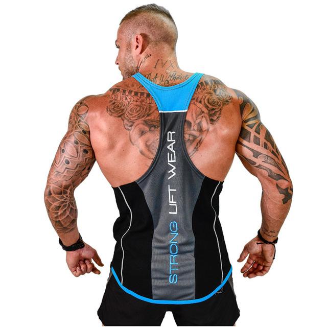 Male Casual Workout Fitness Bodybuilding Singlet Vest Tank Top