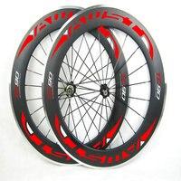 AWST Free Shipping 60mm Carbon Wheels Clincher Rim Alloy Brake Surface R36 Hub Road Bike Carbon
