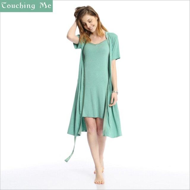 Женщины Одеваются Одежды Для Batas Para Mujer Pijama Qianxiu Модальные халат Набор Для Женщины Дамы Ночной Рубашке Костюм Sexy Hot Слау халат
