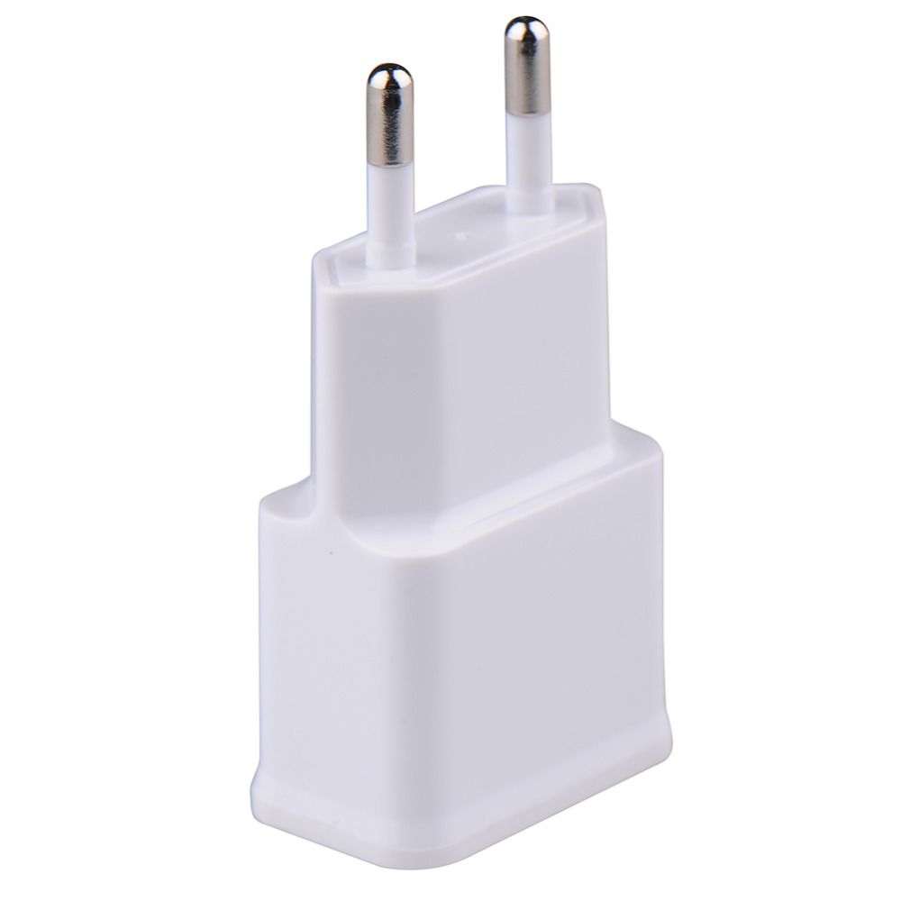 Universal EU Plug Dual Double USB Charger 1A 2A Wall Home AC Power For iPhone Samsung