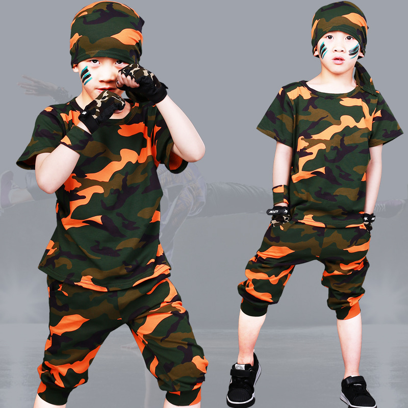 Boys girl camouflage clothes fashion kids Sports Suit 2018 Summer baby boy Outfits T-shirt+pants children clothing set costumes
