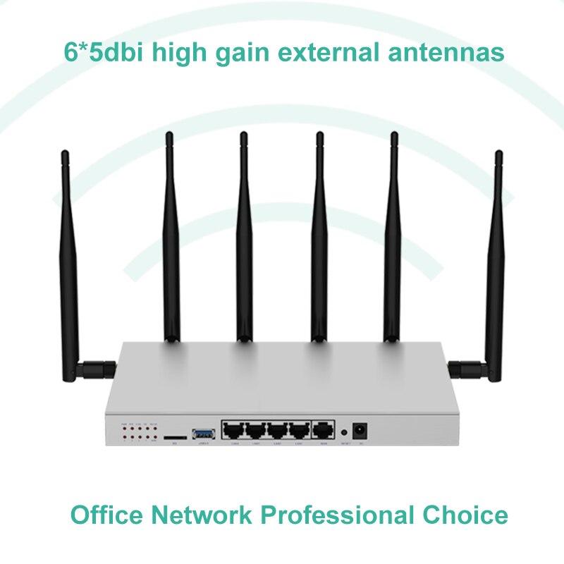 MT7621 Sans Fil WiFi Routeur Répéteur 11AC Double Bande Avec Véritable Gigabit Ports Et SATA 3.0 Port openWRT LTE Modem 3g 4g Wi Fi