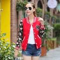 Горячая Продажа 2016 Новый С Длинными рукавами Цветочный Печати Куртки Кардиган Куртки Женщины Моды Куртка C133