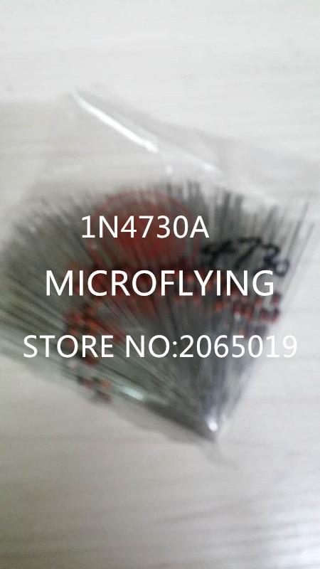 50PCS 1N4730A 1N4730 1W 3V9 DO-41 Zener Diodes
