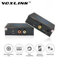 VOXLINK Cyfrowe Koaksjalne SPDIF Toslink do Analogowe Stereo Audio R/L Converter z 3.5mm Jack do 24-bit dla XBox PS3 Blu-ray