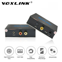 VOXLINK Digital Coaxial SPDIF Toslink To Analog Stereo Audio R L Converter With 3 5 Mm