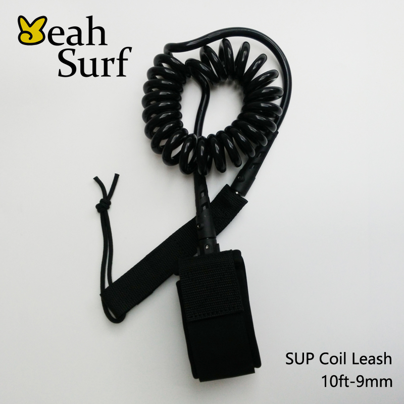 Coil Leash Surf Leash Surfboard Leash 9ft-12ft 9mm 2 rustfrit stål drejebånd