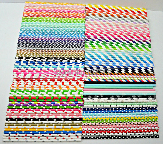 3000 PAPER STRAWS Pick Your Color Paper Straws 400 Designs for choosing with free shipping paper