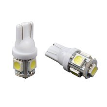 Taitian 2Pcs T10 Car LED 5 SMD 5050 White 194 168 Wedge Interior Side Light Bulb Lamp 12V Dashboard Wedge Tail Side Car Styling(China)