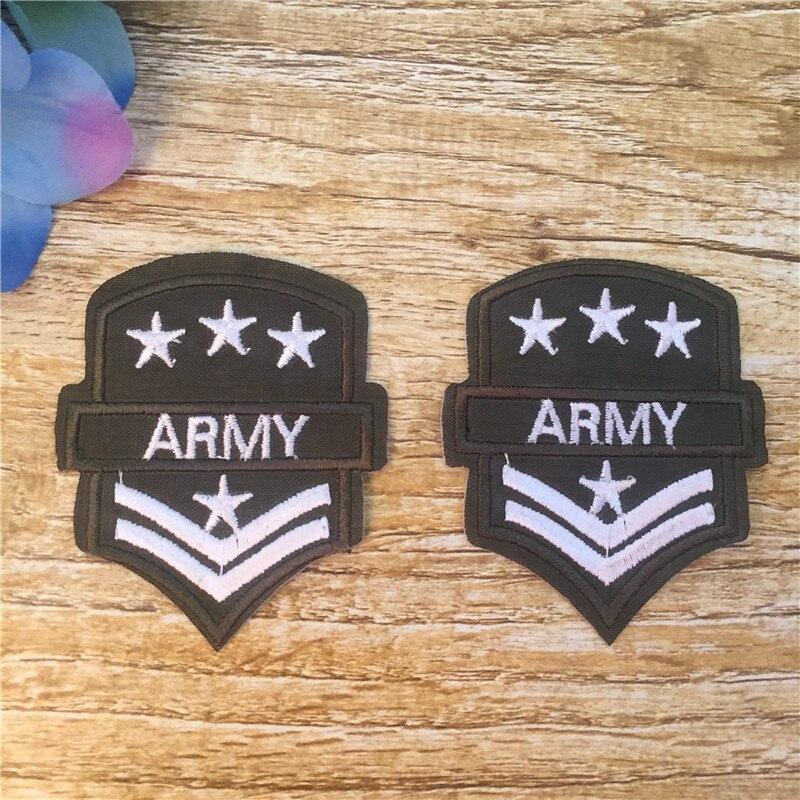ca00f28fea4db лот Army Patch Утюг-на 2 Дизайн вышитые патч для ткань мультфильм значок патч  одежды Аппликации поделки аксессуар 16bt070