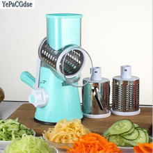 Round Handheld Slicer Vegetable Cutter Manual Potato Julienne Carrot Slicer Cheese Grater Stainless Steel Blades Kitchen Tool multifunctional mandoline slicer manual drum vegetable shredder potato julienne carrot cheese grater round stainless steel blade