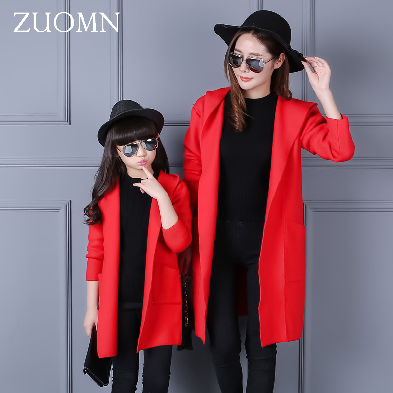 Korea Style Mother Daughter Coats Fashion Family Matching Outfits Look Clothes Cotton Mom And Daughter Baby Girls Outerwear G272 family patchwork shirts summer fashion mother and child clothes daughter short sleeve shirt son striped tops kids good outerwear
