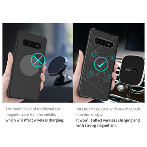 Image 2 - NILLKIN Magnetic Qi Wireless Charger Charging Receiver case for Samsung Galaxy S10 Case Cover 6.1 For Samsung S10 Plus Case 6.4