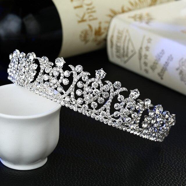 Nuova cerimonia nuziale della sposa monili dei capelli di cristallo diadema corona nuziale di cristallo accessori di moda all'ingrosso
