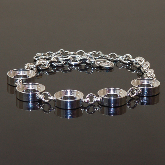Diy Bracelets Interchangeable 5 Round Metal For Charm Ibr11 Insert