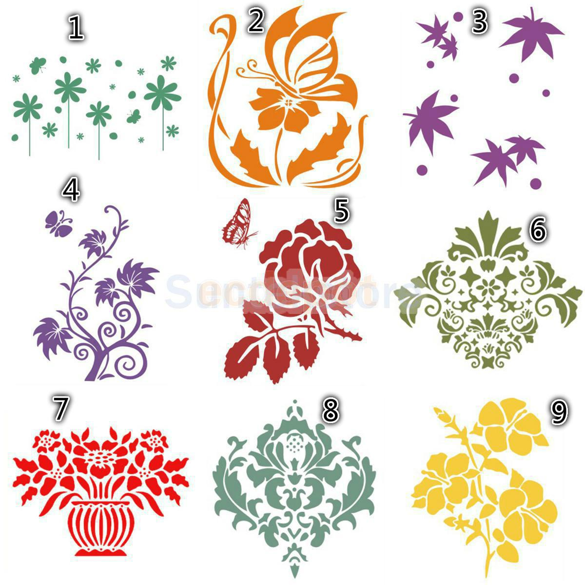 Wall Paint Decor Murals Stencil Template