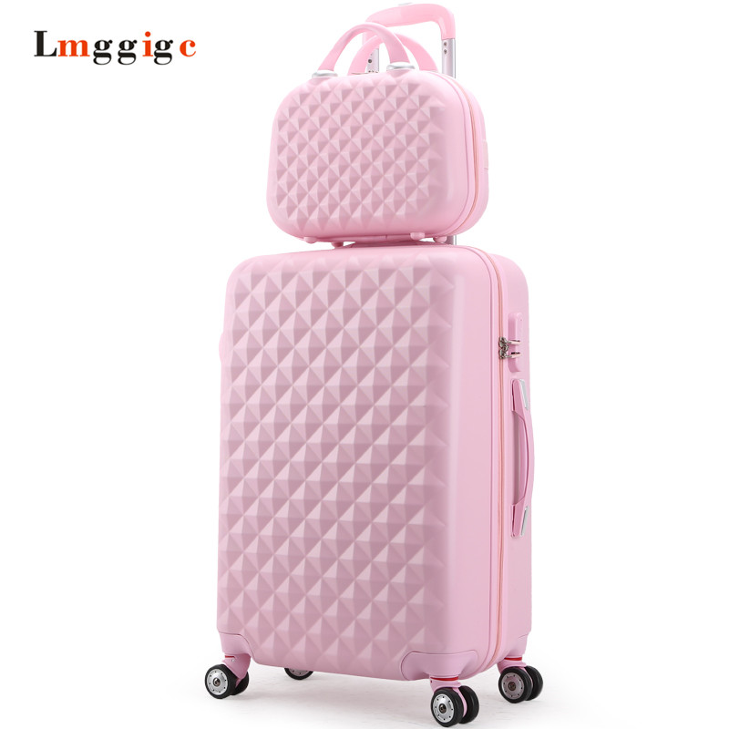 Women Luggage Set,Girl Carry-Ons gift,Wearable Diamond design Suitcase,Lightweight ABS Travel Box,Universal wheel Trolley case travel aluminum blue dji mavic pro storage bag case box suitcase for drone battery remote controller accessories