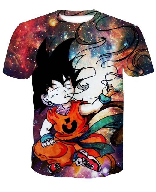 420 Dank Kid Goku Graphic T-Shirt