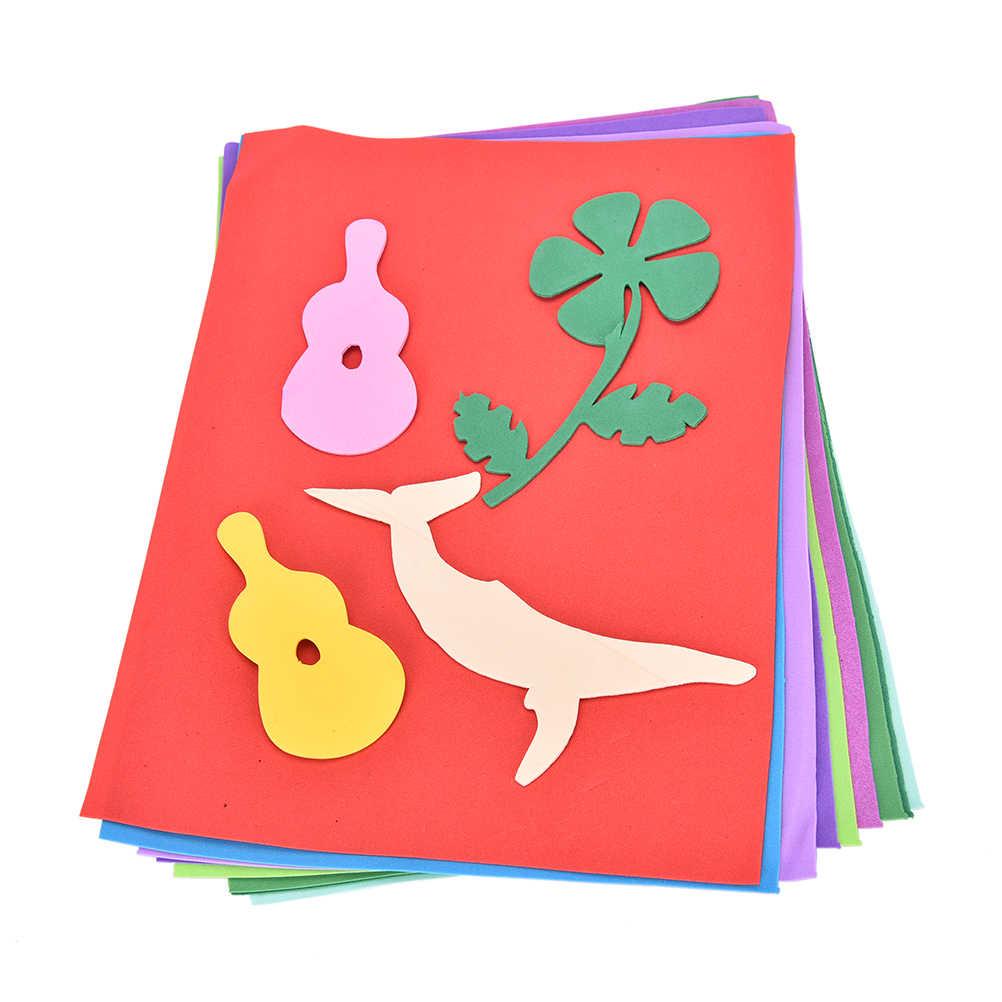 Оптовая продажа ручной работы материалы 10 шт. DIY Craft разноцветные красочные Сгустите A4 губка Ева пены Бумага Простыни детские