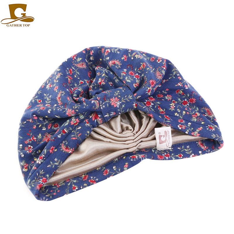 New fashion Women satin liner Turban cotton Breathable Turban Headband Casual Headwrap Cover Hijab Bonnet Turbante Headwear in Women 39 s Hair Accessories from Apparel Accessories