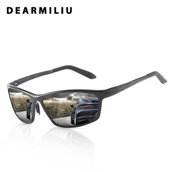 DEARMILIU 2019 Polarized Sunglasses Men Aluminum magnesium Driving Eyewear Square Sun Glasses UV400 Gafas De Sol For Sport Men
