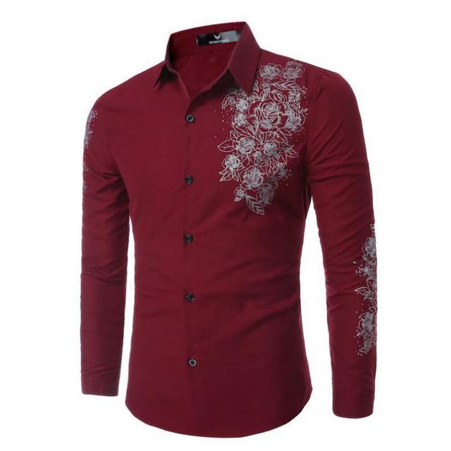 2017 camisetas casuales de vestir masculino mens clothing manga larga social Slim Fit Marca Boutique de Algodón Occidental Botón Blanco Negro T 8002