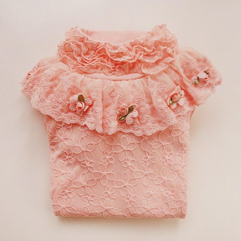 2017 pomlad Vrhunska dekleta majica z dolgimi rokavi otroške majice - Otroška oblačila