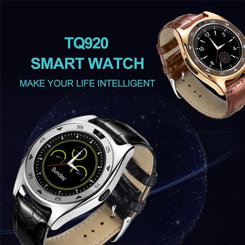 CARPRIE TQ920 Heart Rate Blood Pressure Monitor Slot Wrist Waterproof Bluetooth Smart Watch 180123 DROP SHIPPING