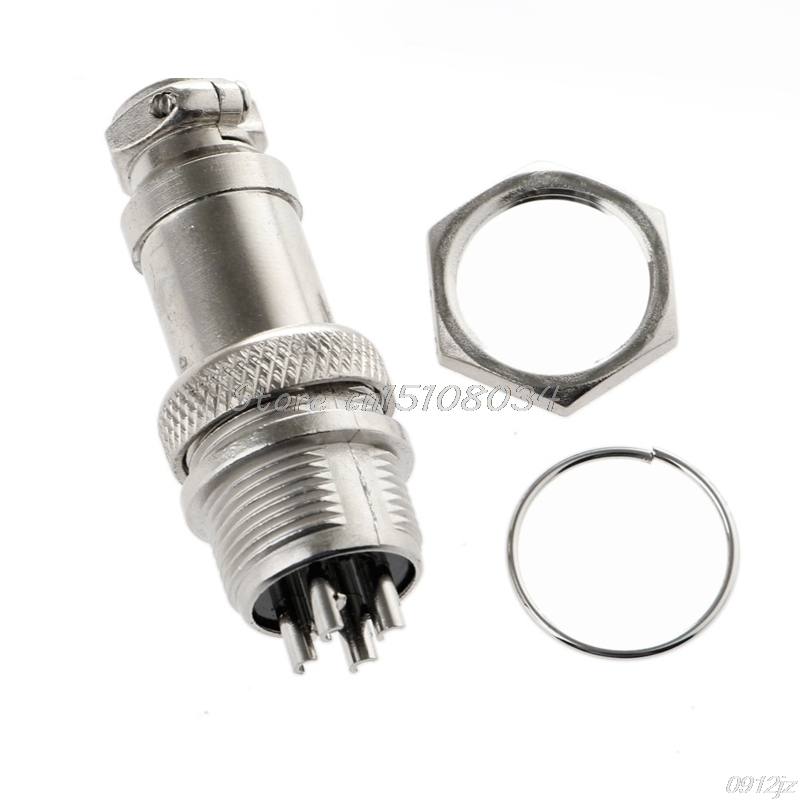 2set GX16-3 3 Pin Male 16mm Screw Type Panel Connector Adapter Aviation Plug