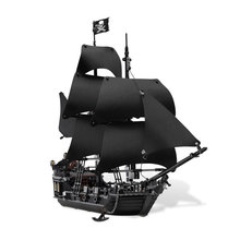 LEPIN 16006 Pirates of The Caribbean The Black Pearl Building Blocks Kit Minifigures Compatible Brick Toys LegoeD 4148 Christmas