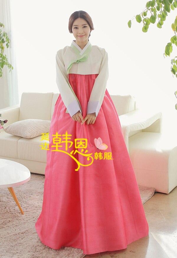 Asombroso Vestido De Novia Hanbok Coreano Bandera - Colección del ...