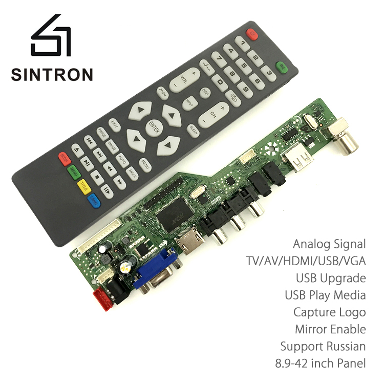 [Sintron] HDMI VGA Audio Universal LCD TV Monitor Screen Controller Driver Board PC/VGA/HDMI/USB Interface Kit Replace V56 V29 aputure digital 7inch lcd field video monitor v screen vs 1 finehd field monitor accepts hdmi av for dslr