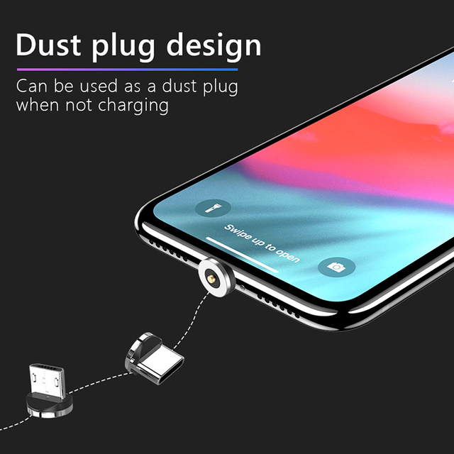 !ACCEZZ Fast Magnetic Charger Dock Micro USB 8 Pin Type-C For iphone 8 X Plus XS For Samsung Xiaomi Huawei Magnet Charging Stand 3