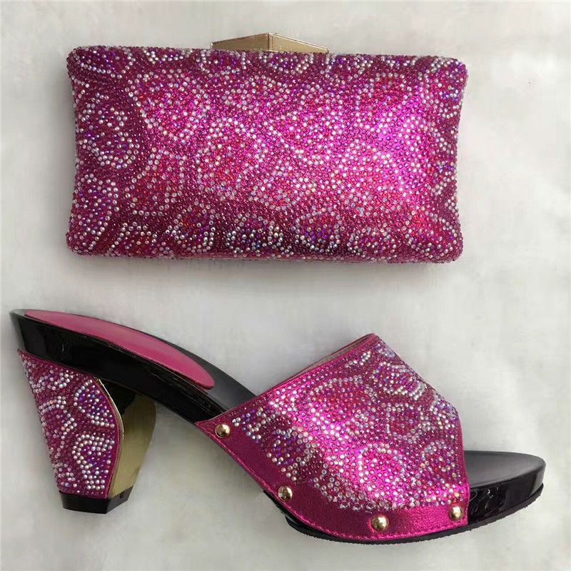 Fashion Latest Nigeria Shoes With Matching Bags Women Italian Wedding Shoes And Bag To Match