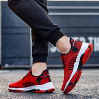 SHUJIN Men Sneakers Sport Breathable Casual No-slip Men Vulcanize Shoes Male Lace Up Wear-resistant Shoes Tenis Masculino 2019