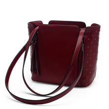 Brands Designer Zipper Rivet Women's Shoulder Bag Quality PU Leather Crossbody Bag Fashion Casual Tote Bag Female Messenger Bag
